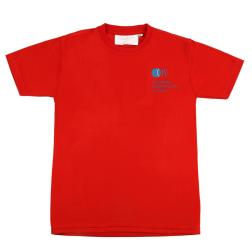 Red PE T Shirt Cotton