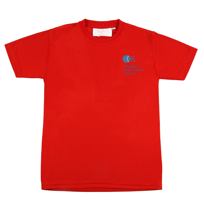 Red PE T Shirt Organic Cotton