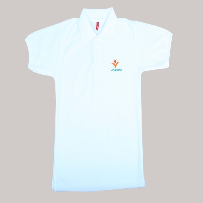 White T Shirt (Name & Logo)